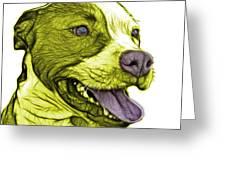 Yellow Bull Fractal Pop Art - 7773 - F - Wb Greeting Card