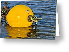 Yellow Buoy Greeting Card