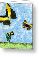 Yellow Butterflies - Spring Art By Sharon Cummings Greeting Card