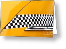 Yellow Cab - 4 Greeting Card