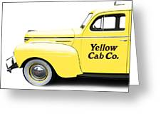 Yellow Cab Square Greeting Card