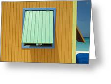 Yellow Cabin Greeting Card by Randall Weidner