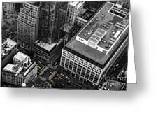 Yellow Cabs - Bird's Eye View Greeting Card