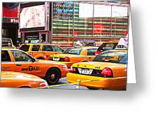 Yellow Cabs Greeting Card
