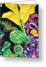 Yellow Cala Lilies Greeting Card