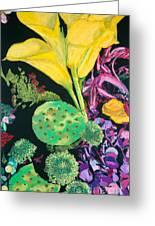 Yellow Cala Lilies Greeting Card