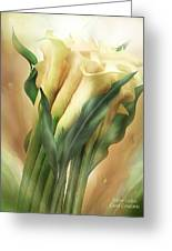 Yellow Callas Greeting Card