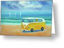 Yellow Camper Greeting Card