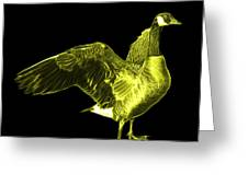 Yellow Canada Goose Pop Art - 7585 - Bb  Greeting Card