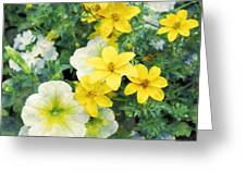 Yellow Cascade Greeting Card