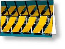 Yellow Chairs Reflected Greeting Card