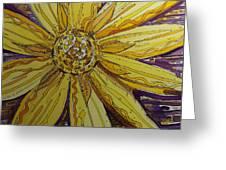 Yellow Chakra Greeting Card