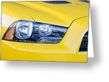 Yellow Charger 1520 Greeting Card