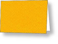 Yellow Chevron Waves Greeting Card