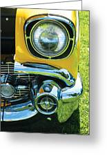 Yellow Chevy Greeting Card