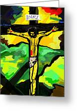 Yellow Christ  After Gauguin Greeting Card