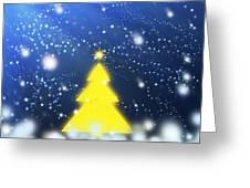 Yellow Christmas Tree Greeting Card