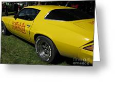 Yellow Classic Car Diablo At The Show Greeting Card