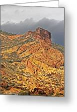 Yellow Colored Rock Along The Apache Trail Greeting Card