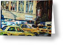 Yellow Congestion Greeting Card