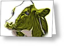 Yellow Cow Holstein - 0034 Fs Greeting Card
