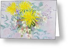 Yellow Dahlias And Peruvian Lilies Greeting Card