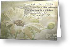 Yellow Daisy Photoart  With Verse Greeting Card