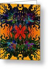 Yellow Dragon Power Greeting Card