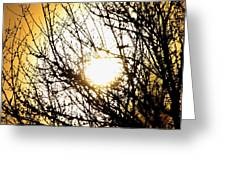Yellow Dreamscape Greeting Card
