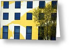 Yellow Facade In Berlin Greeting Card