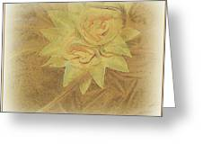 Yellow Fascinator With Feathers Greeting Card