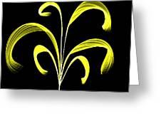 Yellow Flaring Plant Greeting Card