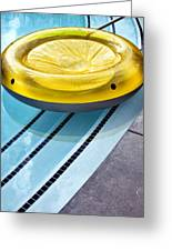 Yellow Float Palm Springs Greeting Card