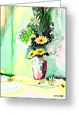 Yellow Flowers 1 Greeting Card