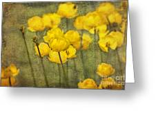 Yellow Flowers With Texture Greeting Card