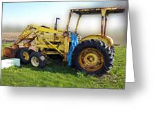 Yellow Ford Tractor Greeting Card
