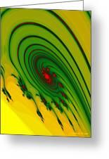 Yellow Fractal Greeting Card