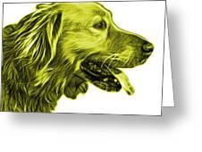 Yellow Golden Retriever - 4047 Fs Greeting Card