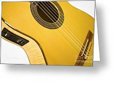 Yellow Guitar Greeting Card