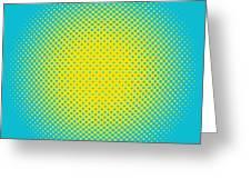 Optical Illusion - Yellow On Aqua Greeting Card