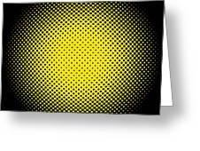 Optical Illusion - Yellow On Black Greeting Card
