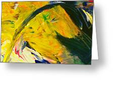 Yellow Horse Greeting Card