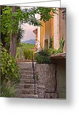 Yellow House In Eze France Greeting Card