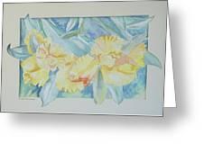 Yellow Iris' Greeting Card