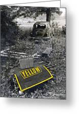 Yellow Greeting Card by   Joe Beasley
