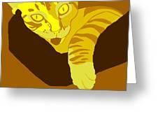 Yellow Lick Greeting Card