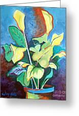 Yellow Lilies Greeting Card
