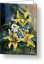 Yellow Lillies Greeting Card