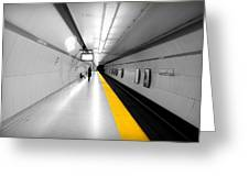 Yellow Line Greeting Card