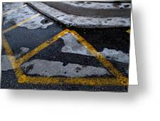 Yellow Lines 2  Greeting Card